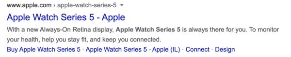 example: apple watch meta description